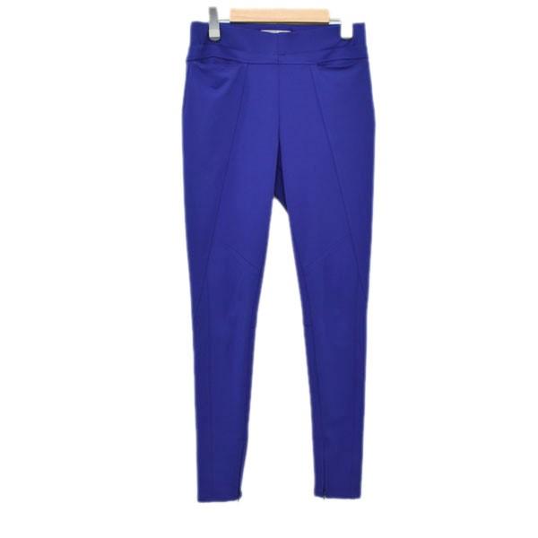 【中古】ISSEY MIYAKE 19AW 裾ジップ レギンスパンツ IM94JF502 ブルー サイズ:2 【230320】(イッセイミヤケ)