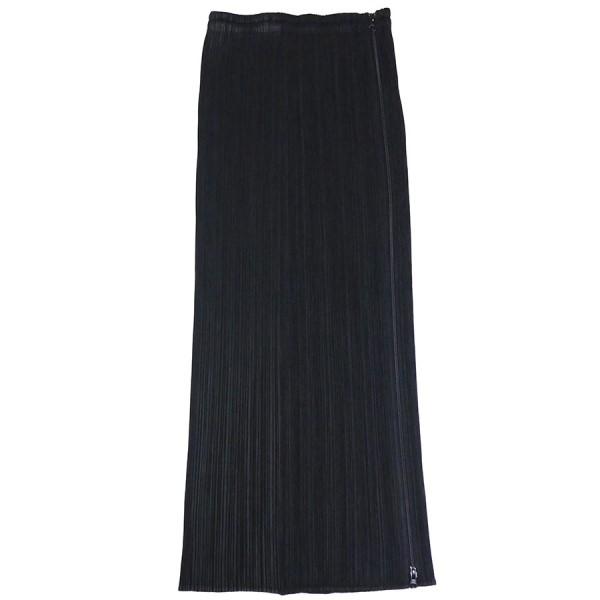 【中古】PLEATS PLEASE プリーツ ロング スカート ブラック サイズ:1 【220320】(プリーツプリーズ)
