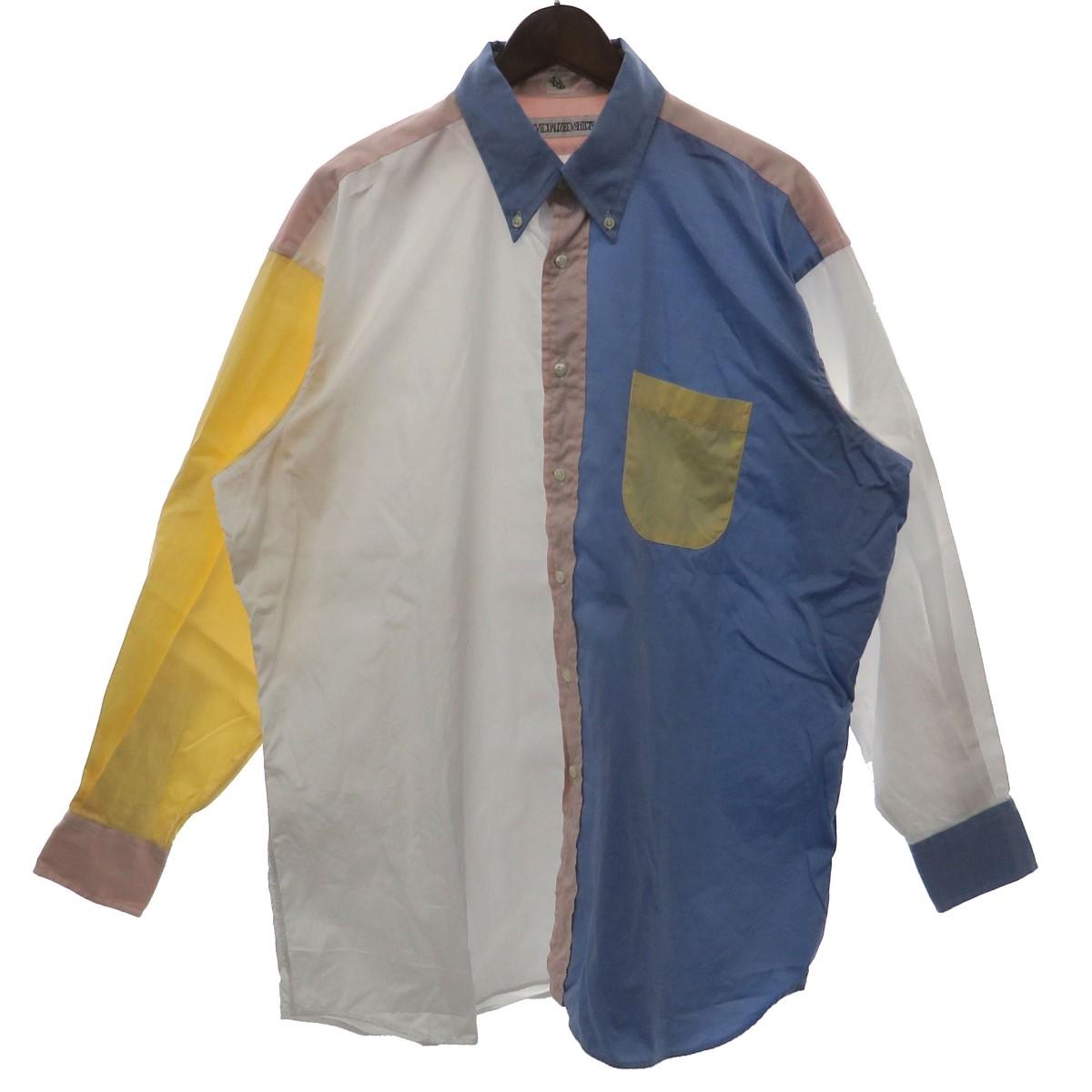 【中古】INDIVIDUALIZED SHIRTS×KAPTAIN SUNSHINE クレイジーパターンボタンダウンシャツ オーバーサイズシャツ マルチカラー サイズ:L 【230320】(インディビジュアライズドシャツ×キャプテンサンシャイン)
