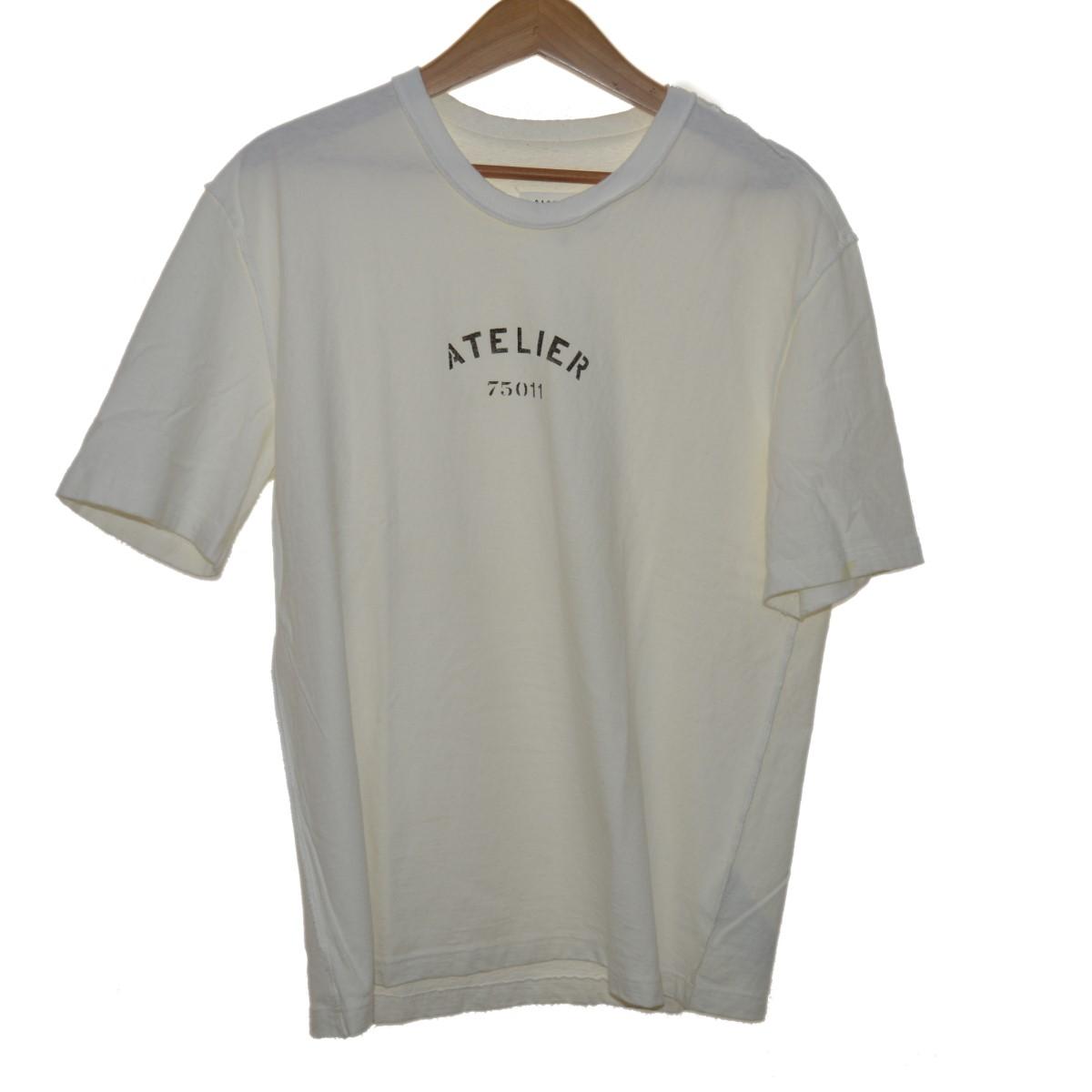 【中古】Maison Margiela 18SS ATELIER TEE Tシャツ ホワイト サイズ:44 【240320】(メゾン マルジェラ)