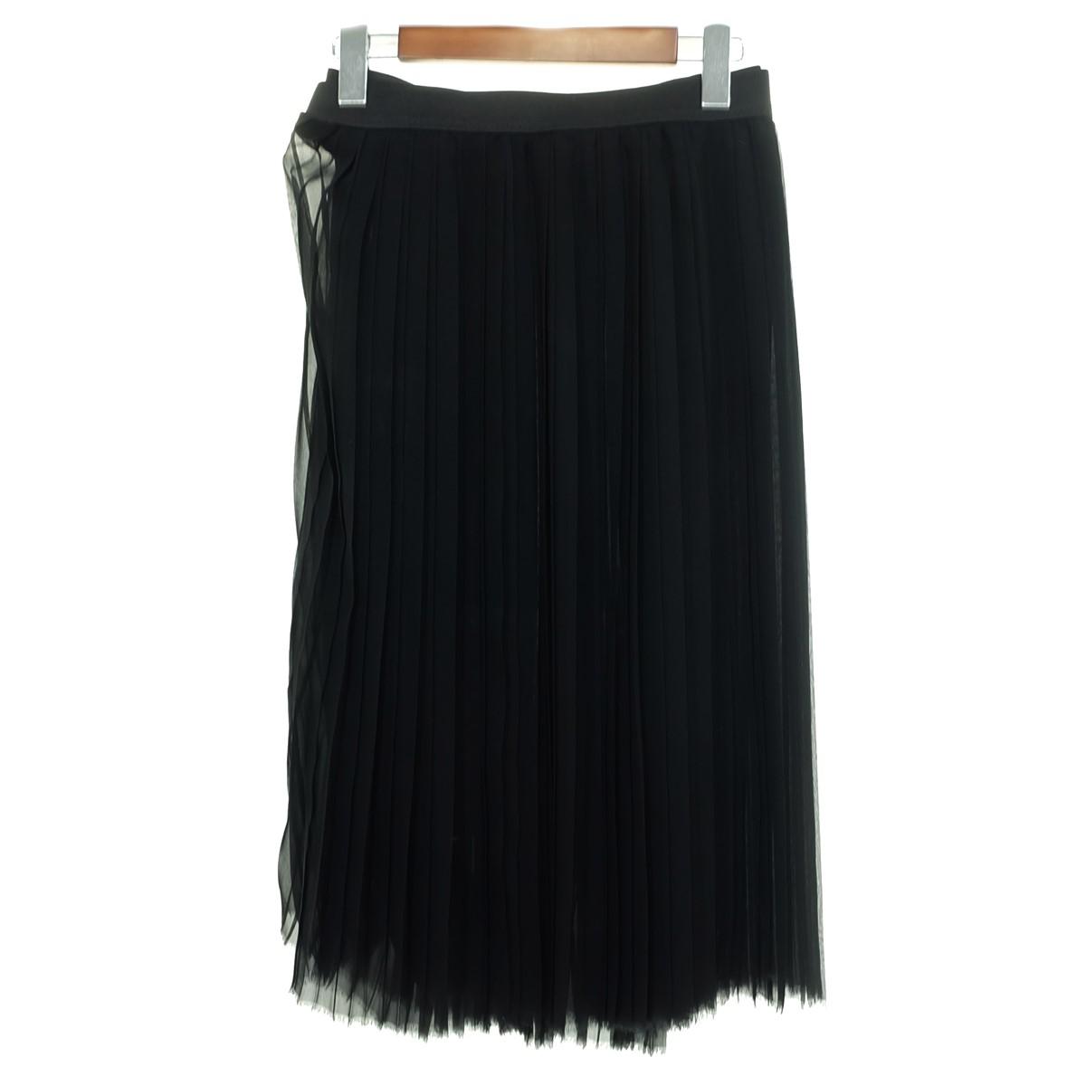 【中古】JUNYA WATANABE CdG 【AD2012】 シースルー プリーツスカート ブラック サイズ:XS 【240320】(ジュンヤワタナベコムデギャルソン)