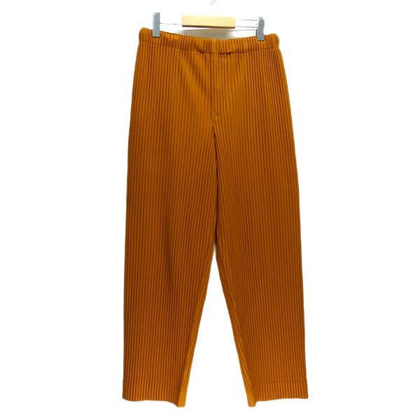 【中古】HOMME PLISSE ISSEY MIYAKE 2019AW プリーツパンツ オレンジ サイズ:1 【230320】(オムプリッセ イッセイ ミヤケ)