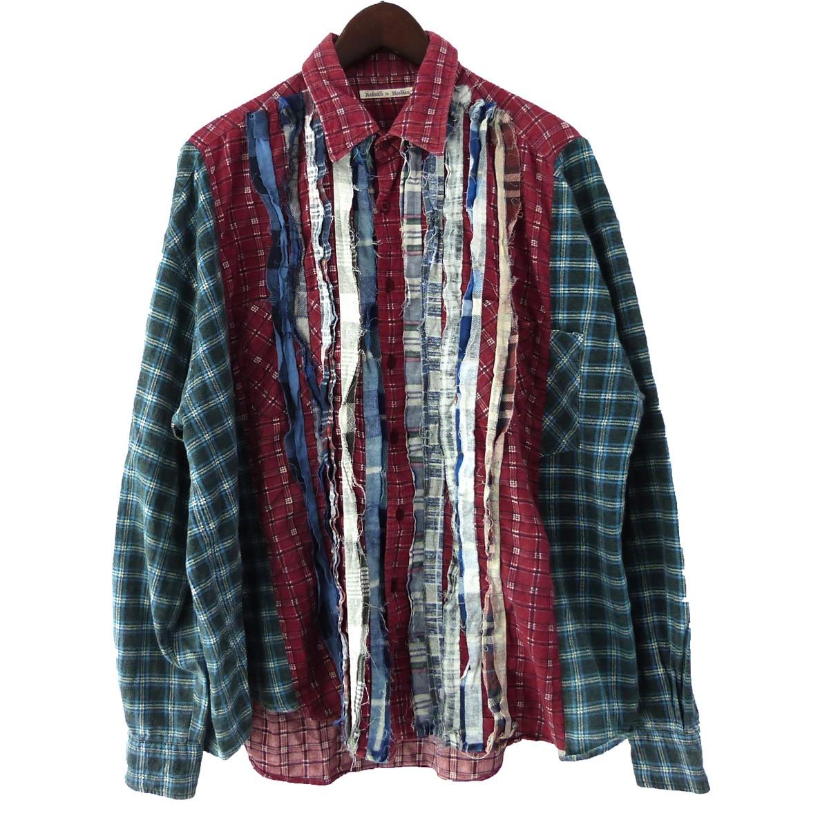 【中古】Rebuild by Needles 「Flannel Shirt- Ribbon Shirt」フランネルリボンシャツ マルチカラー 【240320】(リビルド バイ ニードルス)