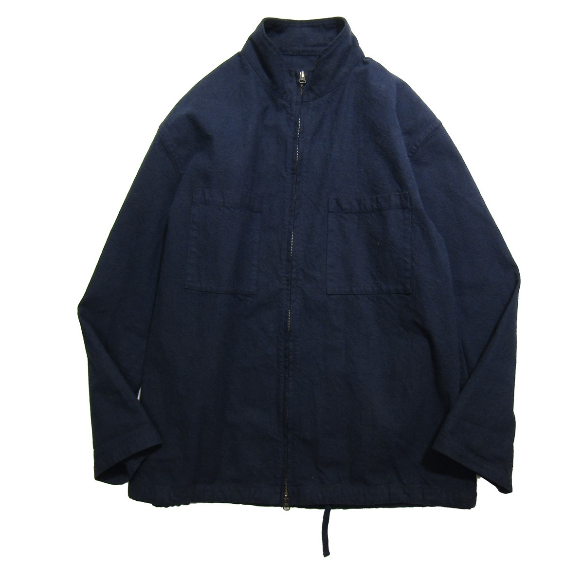 【中古】nestrobe confect 2020SS コットンシルクネップジップシャツ ネイビー サイズ:4 【240320】(ネストローブコンフェクト)