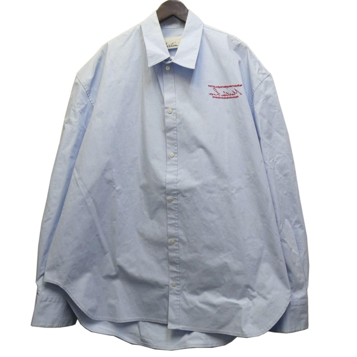 【中古】martine rose オーバーサイズシャツ サックスブルー サイズ:XS 【240320】(マーティンローズ)