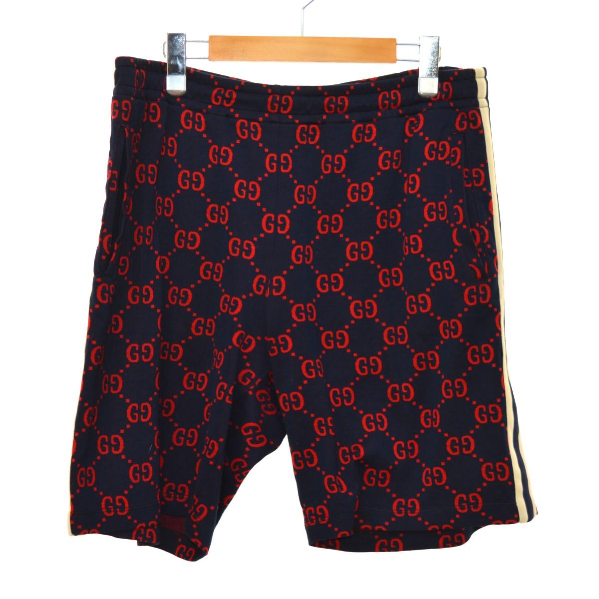 【中古】GUCCI 18SS Jaquard Jersey Shors ショートパンツ ネイビー サイズ:XL 【240320】(グッチ)