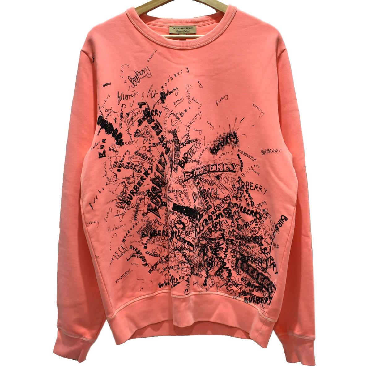 【中古】BURBERRY Rennie Graphic Crewneck Sweatshirt ピンク サイズ:M 【240320】(バーバリー)