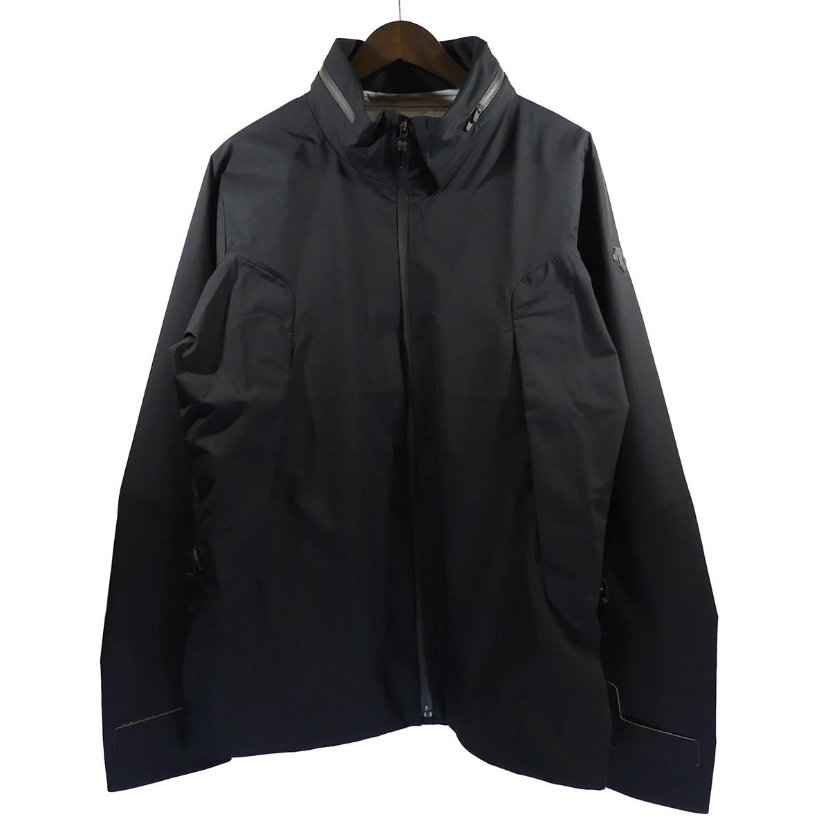 【中古】DESCENTE ALLTERRAINS.I.O.HARD SHELL JACKET ハードシェルジャケット ブラック サイズ:L 【4月27日見直し】