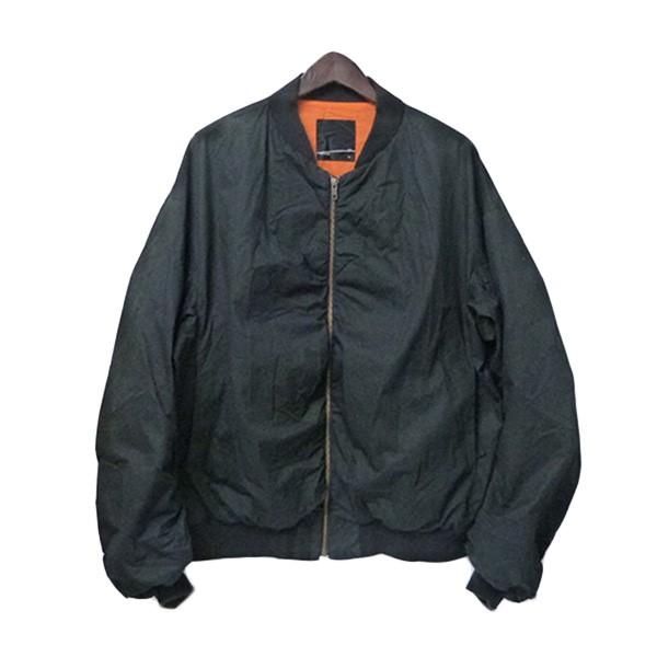 【中古】LAD MUSICIAN オーバーサイズギャザーMA-1ブルゾン 2016SS MA-1ジャケット ブラック サイズ:46 【240320】(ラッドミュージシャン)