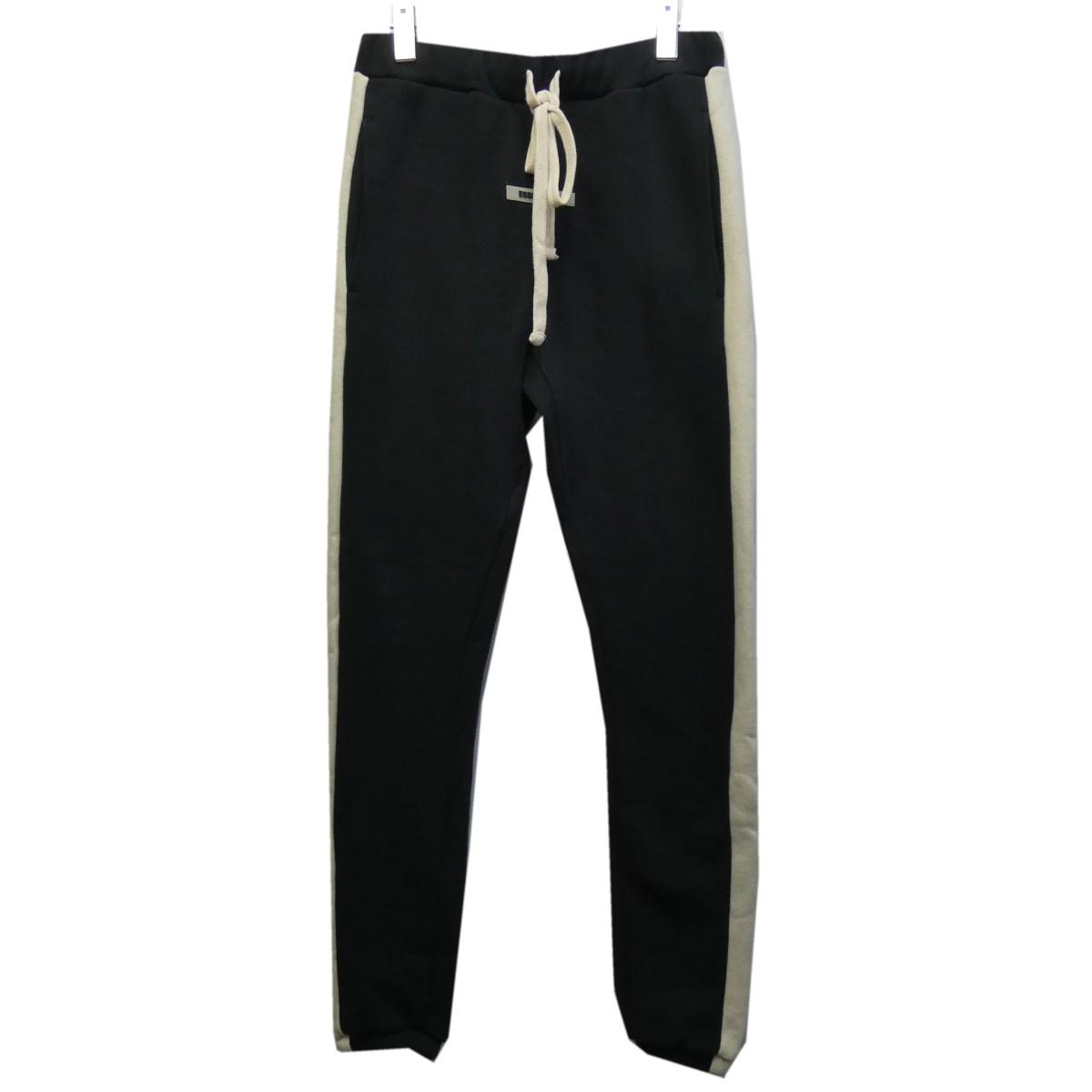 【中古】FOG ESSENTIALS 19AW「Sideline Sweat Pants」サイドラインスウェットパンツ ブラック サイズ:XXS 【250320】(エフオージー エッセンシャルズ)