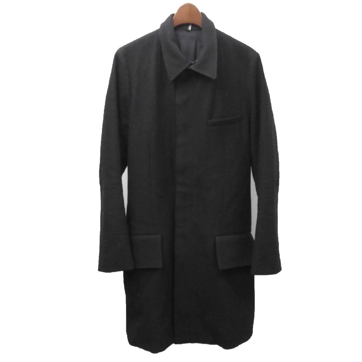 【中古】Dior Homme 2003AW ラスター期 ステッチステンカラーコート ブラック サイズ:48 【260320】(ディオールオム)