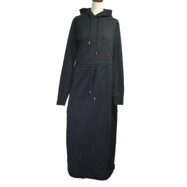 【中古】JOHN LAWRENCE SULLIVAN 2019SS「HOODED SWEAT DRESS」スウェットワンピース ブラック サイズ:M 【260320】(ジョンローレンスサリバン)