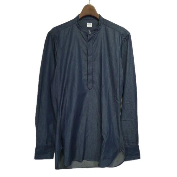 【中古】E.TAUTZ バンドカラープルオーバーシャツ インディゴ サイズ:15 【260320】(イートウツ)