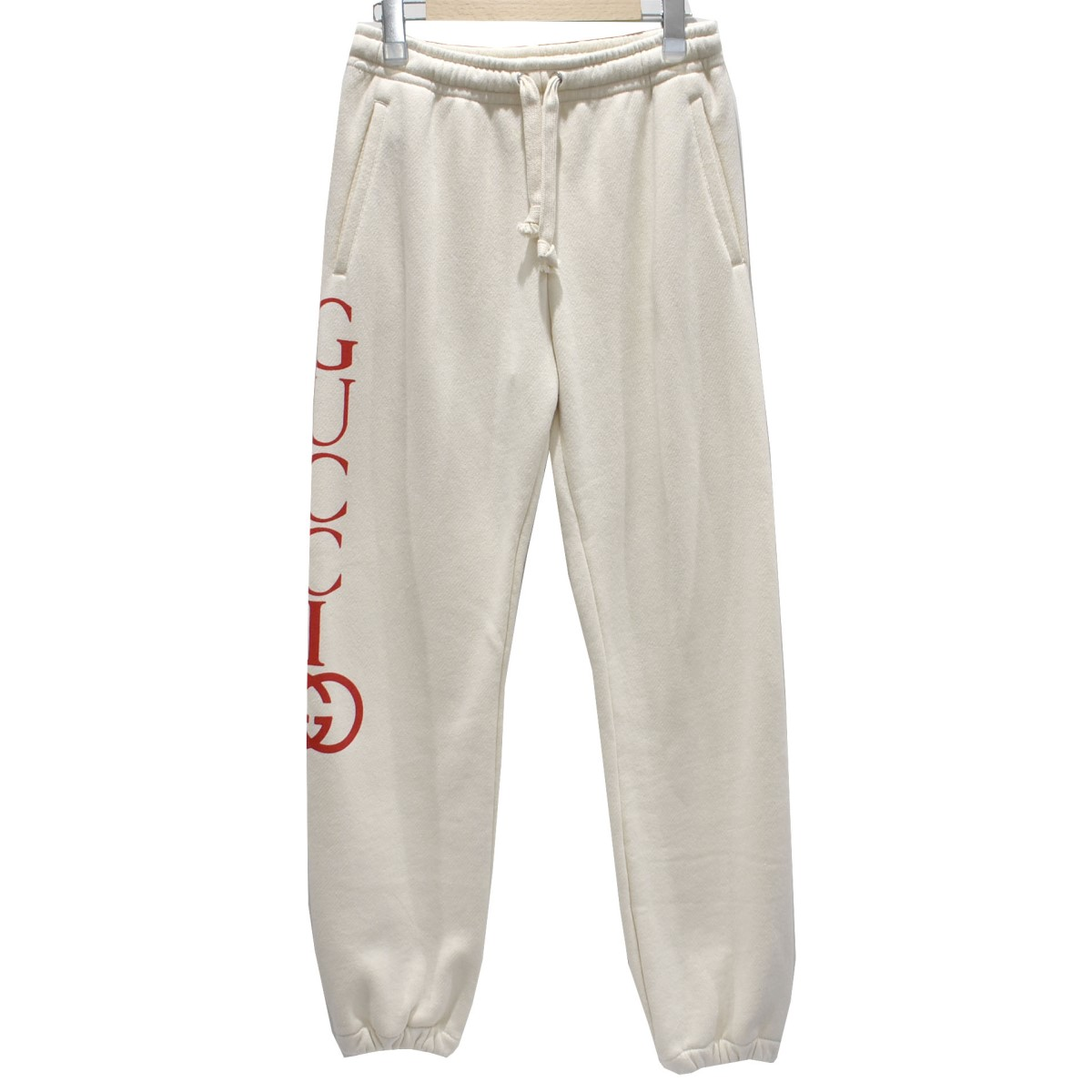 【中古】GUCCI19SS ジョギングパンツ ベージュ サイズ:XS