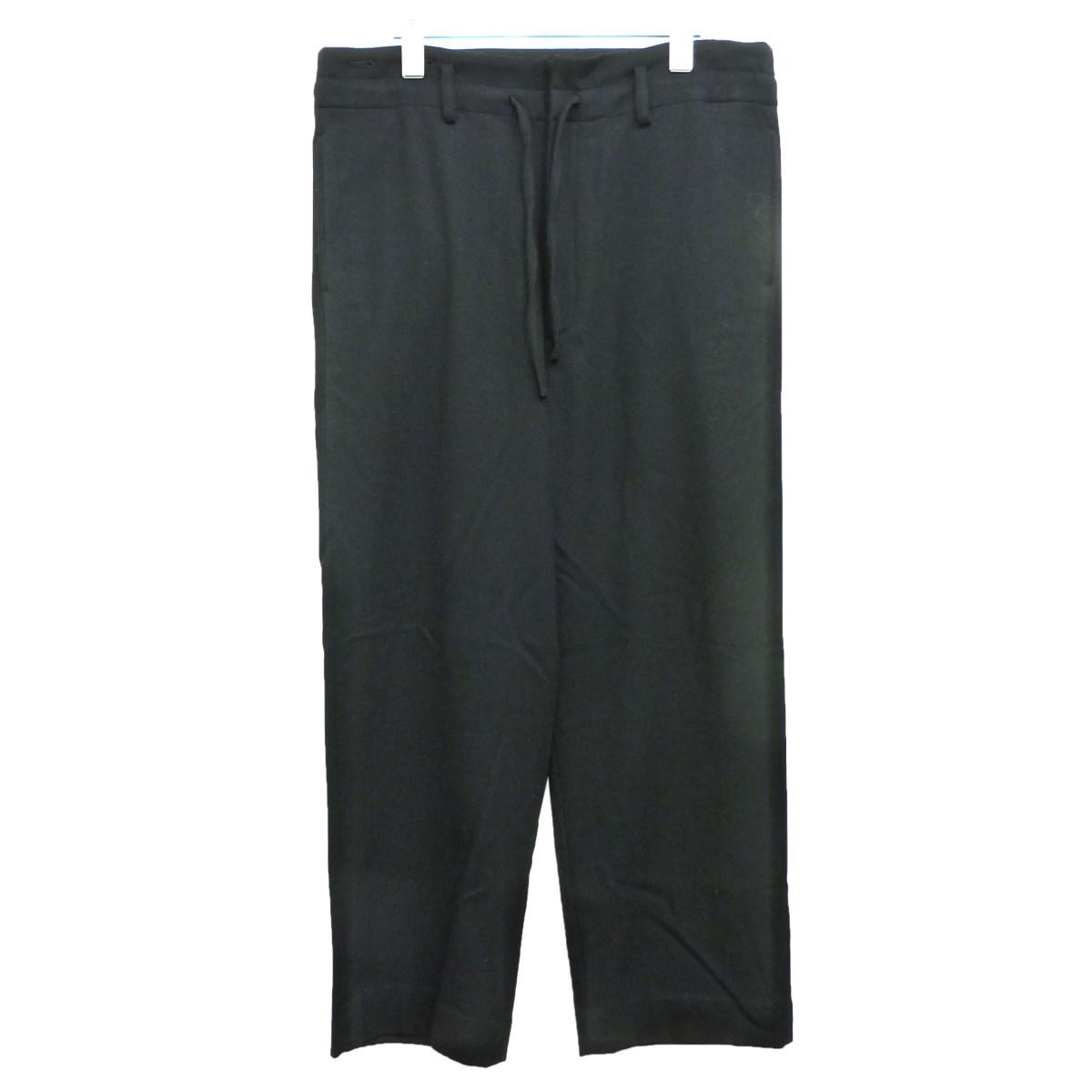 【中古】YOKE '19AW 「WIDE PAJAMA PANTS」ワイドパジャマパンツ ブラック サイズ:S 【260320】(ヨーク)
