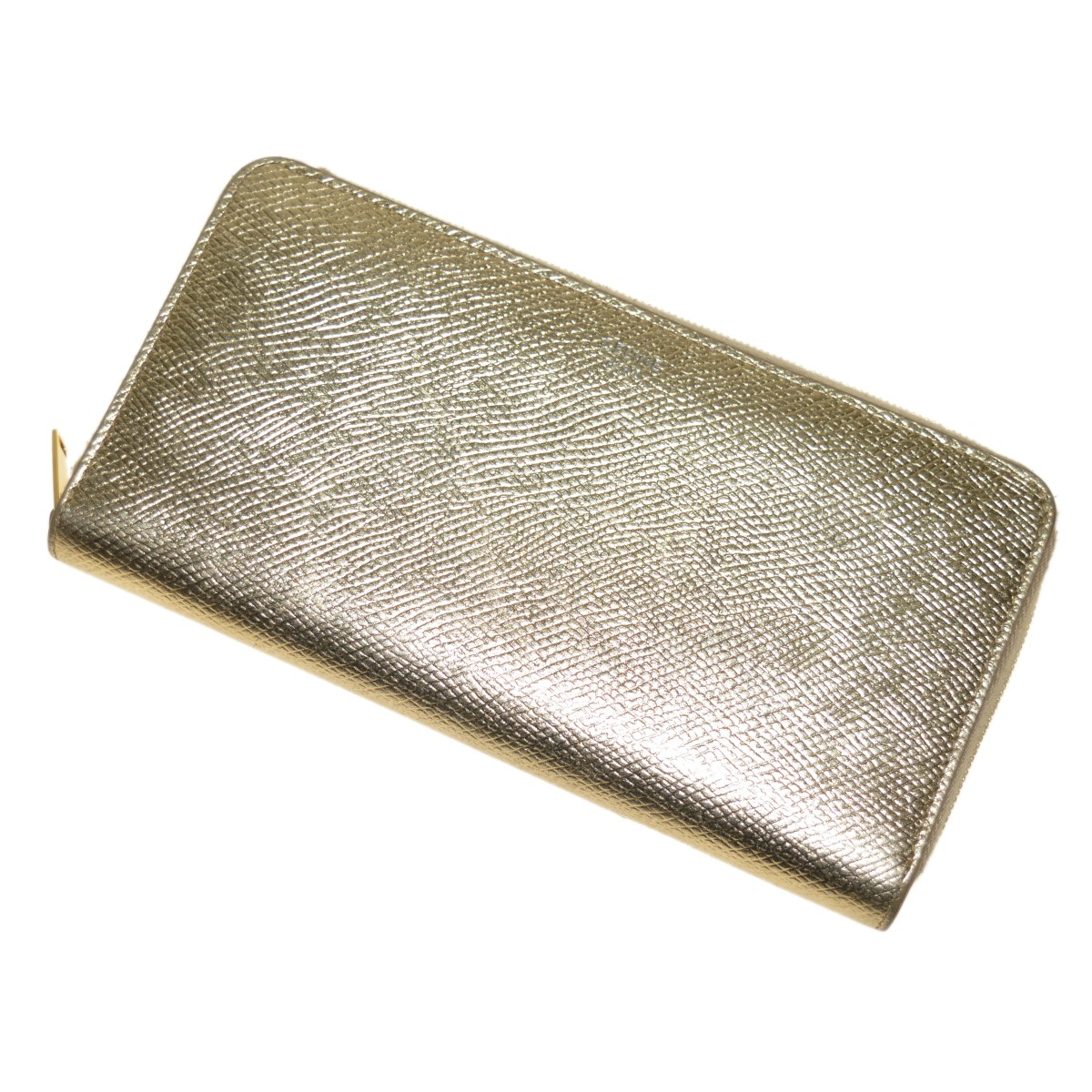 【中古】CELINE LARGE ZIPPED MULTIFUNCITION WALLET ゴールド 【270320】(セリーヌ)