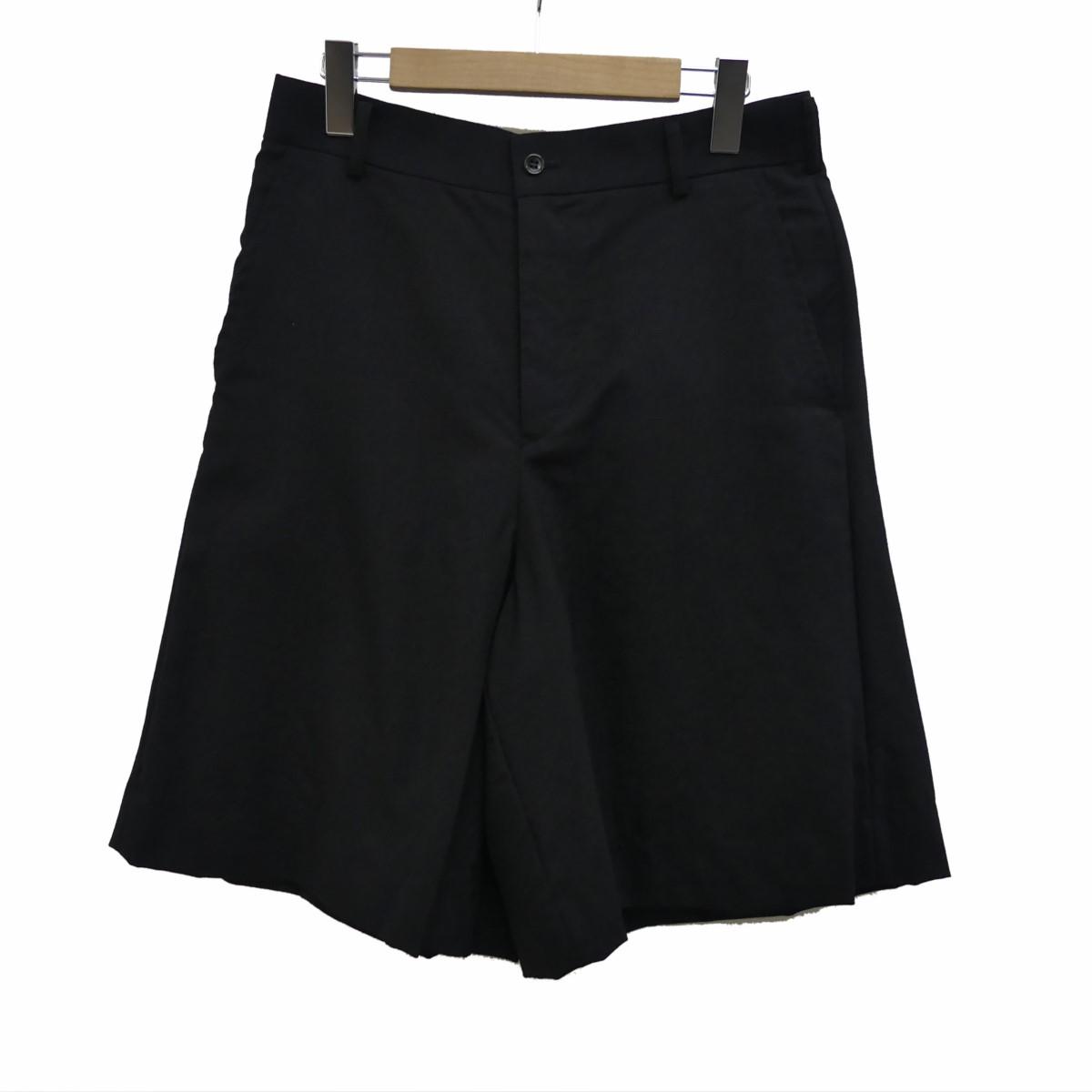 【中古】BLACK COMME des GARCONS ウールショートパンツ ブラック サイズ:M 【270320】(ブラック コムデギャルソン)