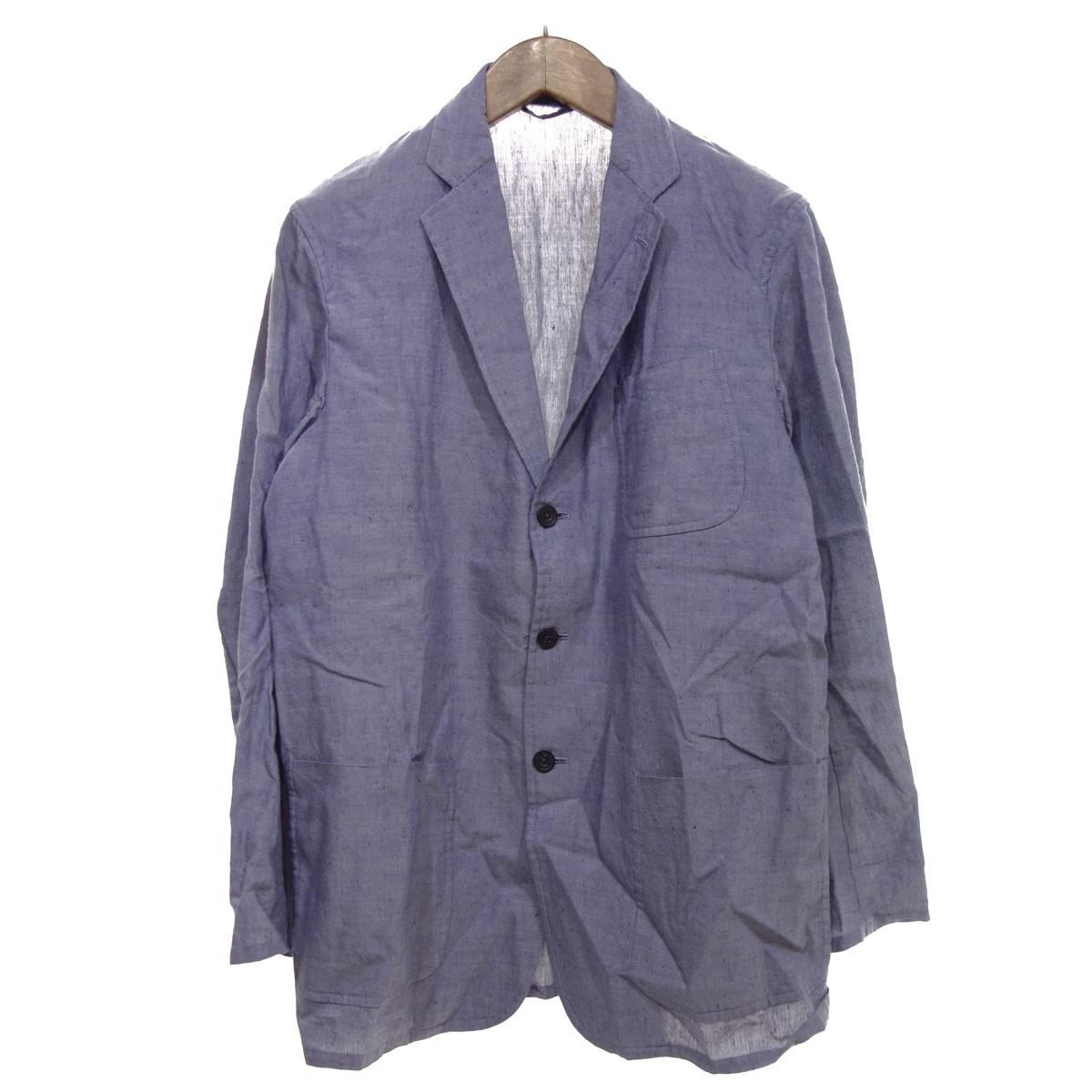 【中古】COMOLI 【2015S/S】 リネン×ウール3Bジャケット ブルー系 サイズ:1 【270320】(コモリ)
