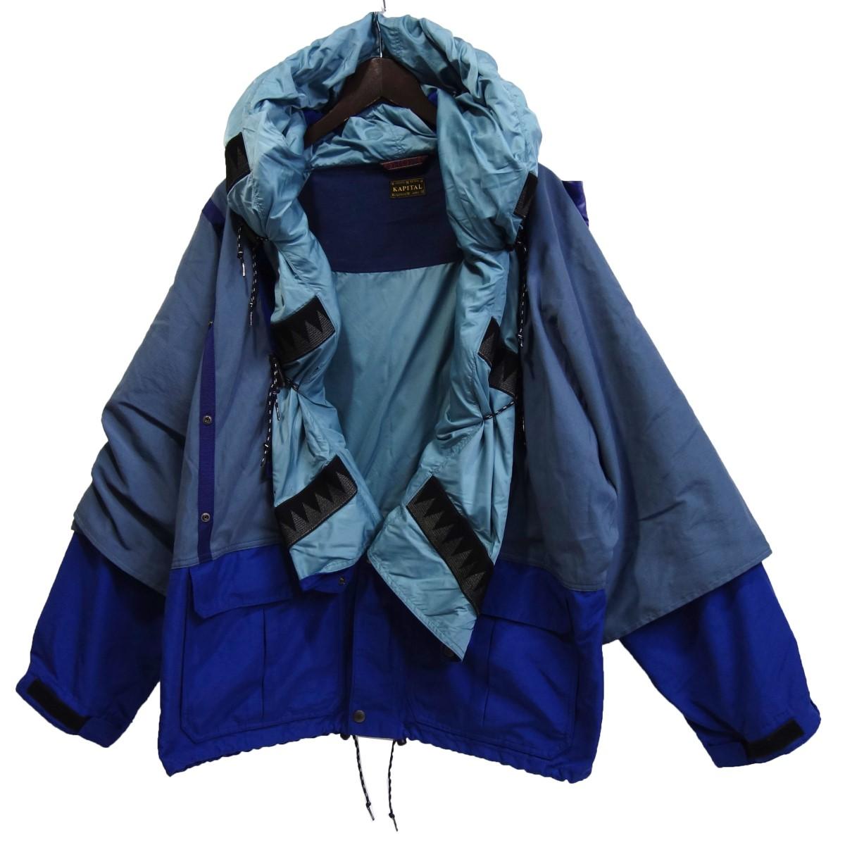 【中古】KAPITAL 「60/40クロス KAMAKURA アノラックブルゾン」 カマクラアノラックブルゾン ブルー サイズ:3 【280320】(キャピタル)