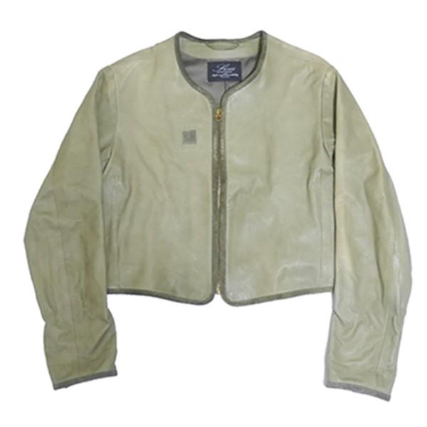 【中古】SiSiiレザージャケット カーキ サイズ:XS