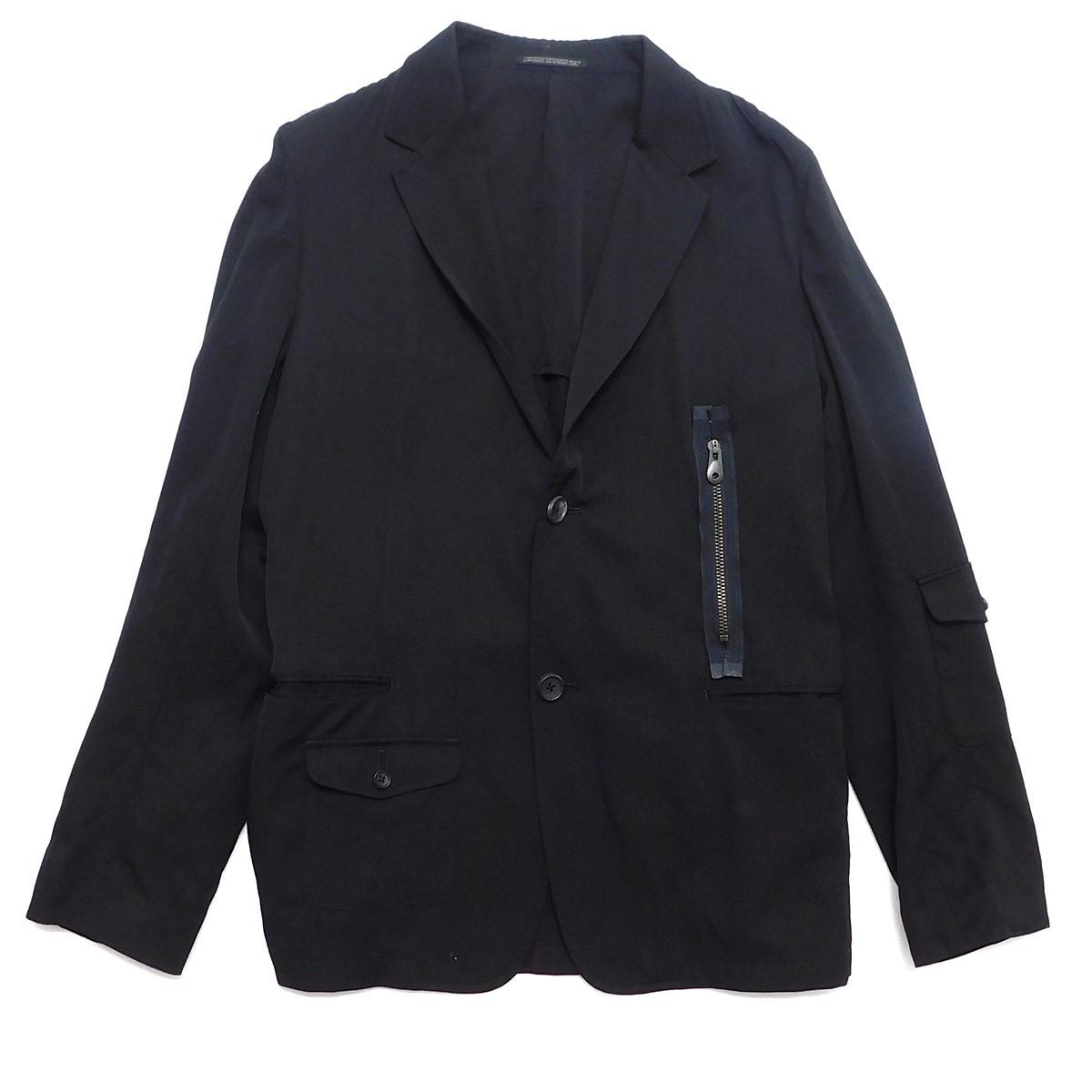 【中古】YOHJI YAMAMOTO pour homme 2017SS ウールギャバジンマルチポケットジャケット ブラック サイズ:3 【270320】(ヨウジヤマモトプールオム)
