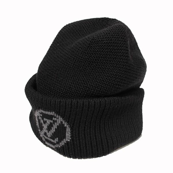 【中古】LOUIS VUITTON ボネ・LVコラージュ ニット帽 ニットキャップ ブラック サイズ:- 【270320】(ルイヴィトン)