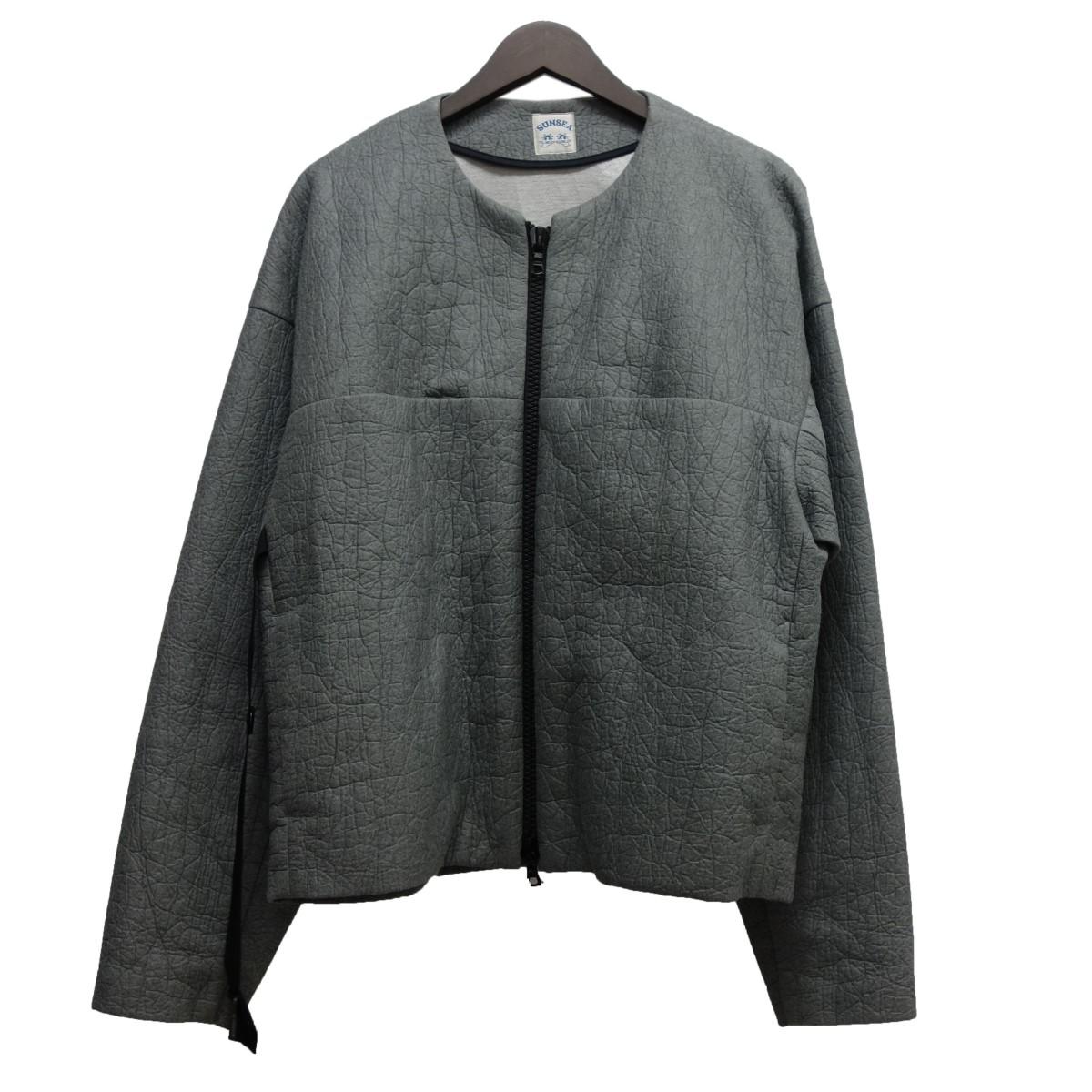 【中古】sunsea 19SS「ELEPHANT BLOUSON」ノーカラージャケット グレー サイズ:3 【280320】(サンシー)