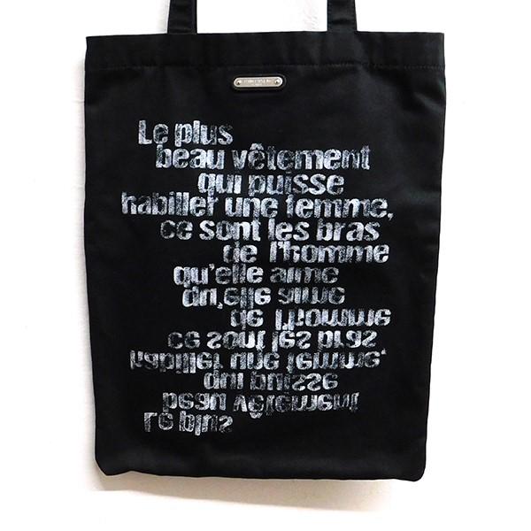 【中古】SAINT LAURENT PARIS 2018SS Slogan Shopper Tote Bag スローガントートバッグ ブラック 【280320】(サンローランパリ)