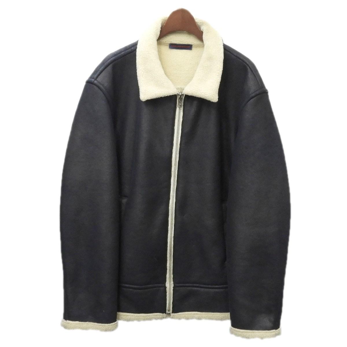 【中古】Gosha Rubchinskiy 「Fake Sheep Jacket」ムートンジャケット ネイビー サイズ:M 【290320】(ゴーシャラブチンスキー)