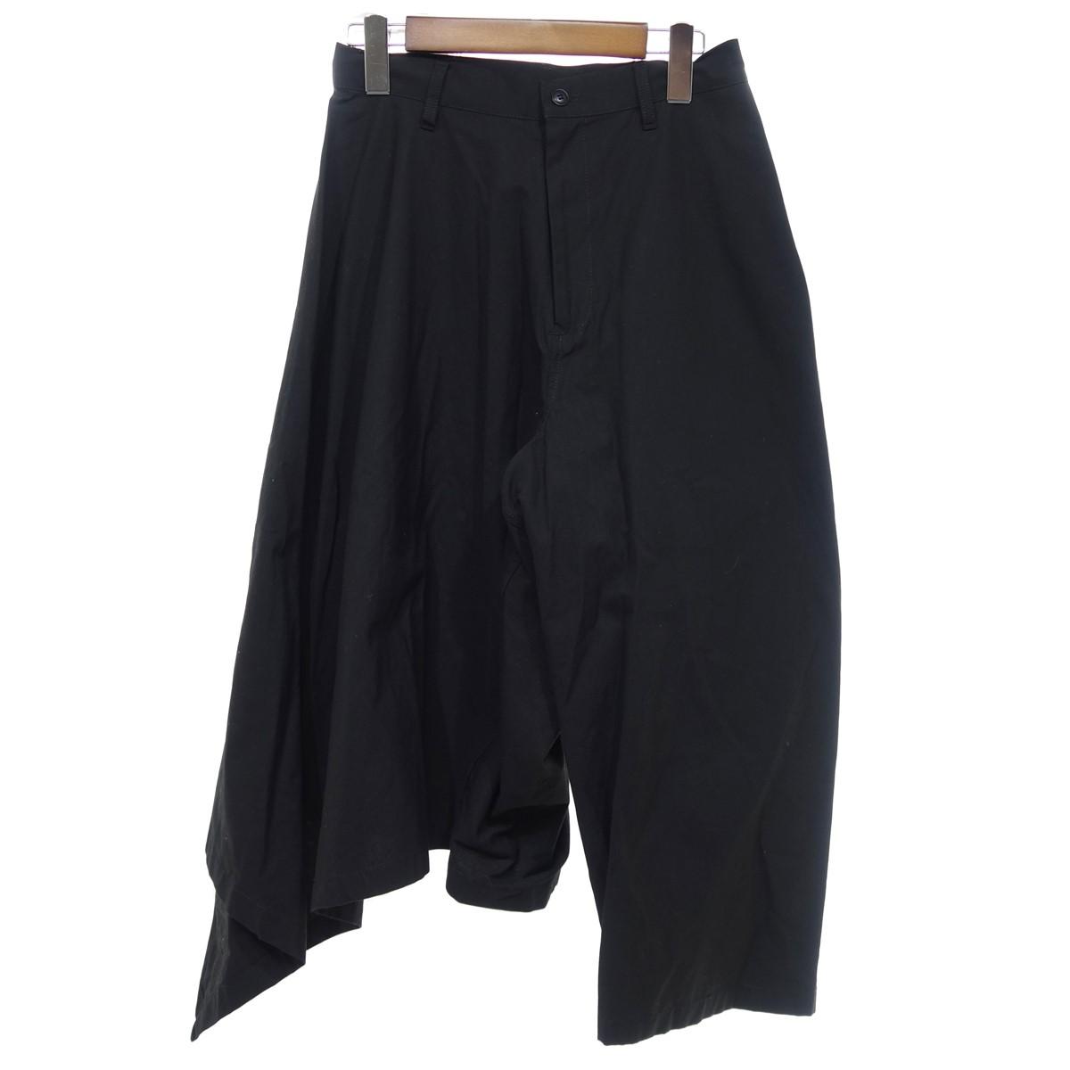 【中古】B Yohji Yamamoto ワイド変形パンツ ブラック サイズ:1 【290320】(ビー ヨウジヤマモト)
