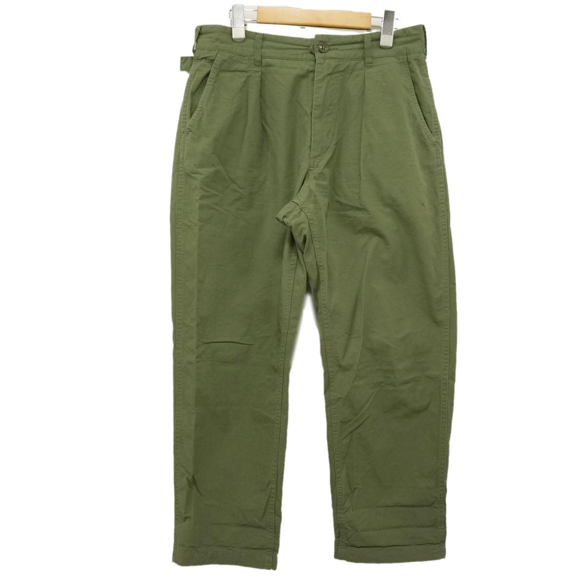 【中古】Engineered Garments ミリタリーパンツ Ground Pant グラウンドパンツ カーキ サイズ:XS 【300320】(エンジニアードガーメンツ)