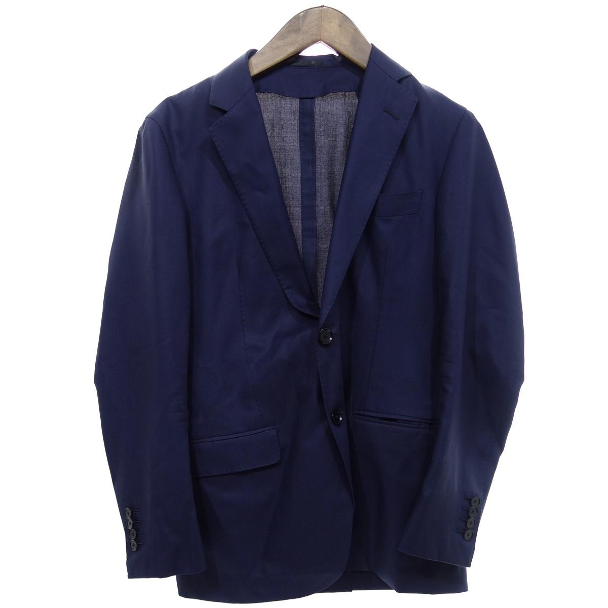 【中古】TOMORROW LAND 19AW super130's ウールシルクポップ テーラードジャケット ネイビー サイズ:44 【300320】(トゥモローランド)