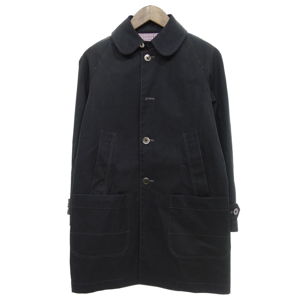 【中古】JUNYA WATANABE CdG MAN PINK AD2012 ステンカラーコート ブラック サイズ:S 【300320】(ジュンヤワタナベコムデギャルソンマンピンク)