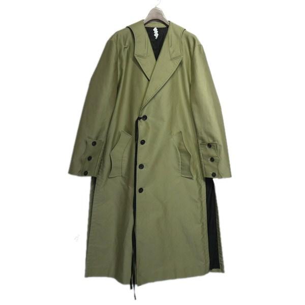 【中古】SOSHI OTSUKI2019AW「Sailor Trench Coat」セイラーカラートレンチコート ベージュ サイズ:44 【4月27日見直し】