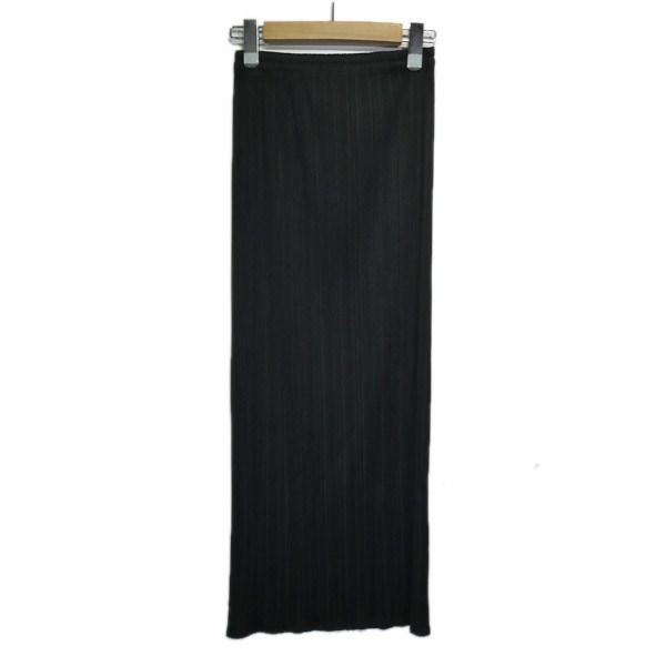 【中古】PLEATS PLEASE プリーツタイトスカート ブラック サイズ:2 【300320】(プリーツプリーズ)