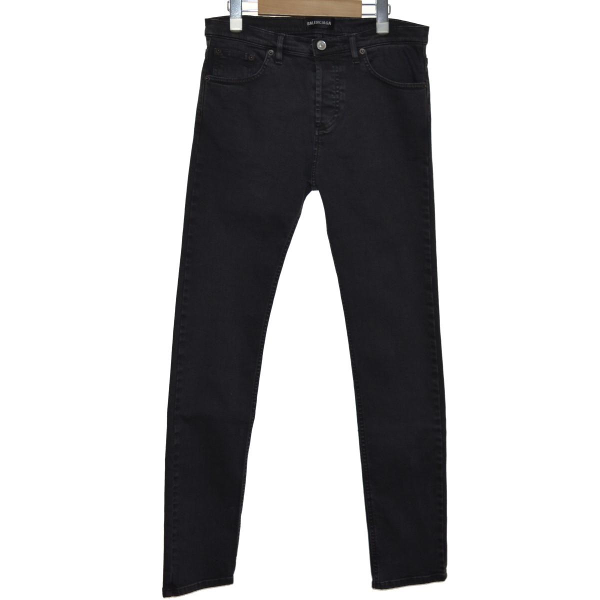 【中古】BALENCIAGA 18SS ブラックスキニーデニム ブラック サイズ:28 【300320】(バレンシアガ)