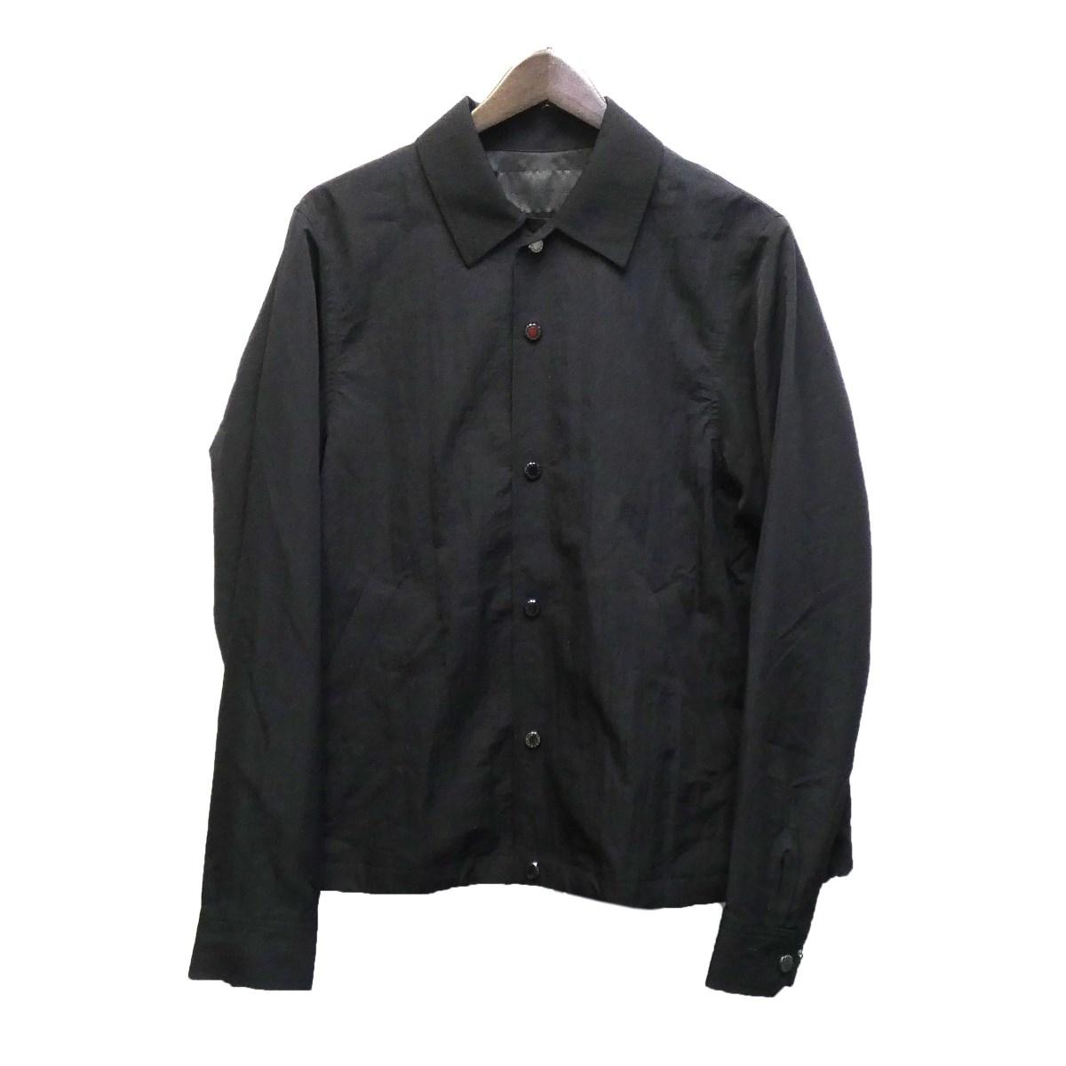 【中古】FUMITO GANRYU 20SS 「WATTEAU PLEATS COACH JACKET」 コーチジャケット ブラック サイズ:1 【300320】(フミトガンリュウ)