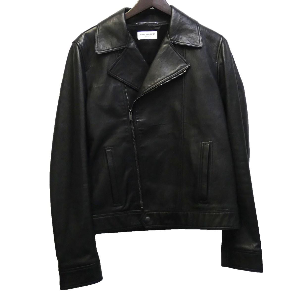【中古】SAINT LAURENT PARIS 529897 ライダースジャケット ブラック サイズ:48 【300320】(サンローランパリ)