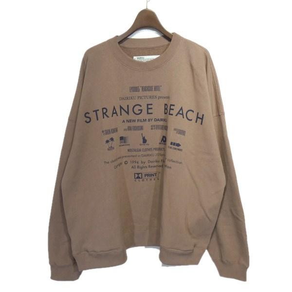 【中古】DAIRIKU 2020SS「Strange Beach Title Sweater」ロゴプリントスウェット ピンクオレンジ サイズ:M 【310320】(ダイリク)
