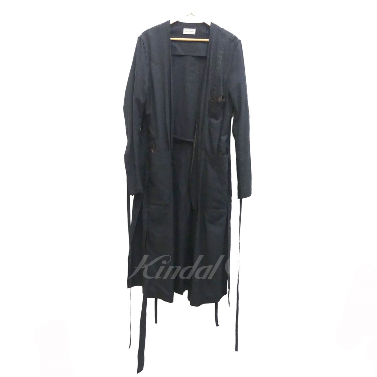 【中古】BED J.W. FORDガウンコート Gown ver.1 2018SS ブラック サイズ:1 【5月14日見直し】