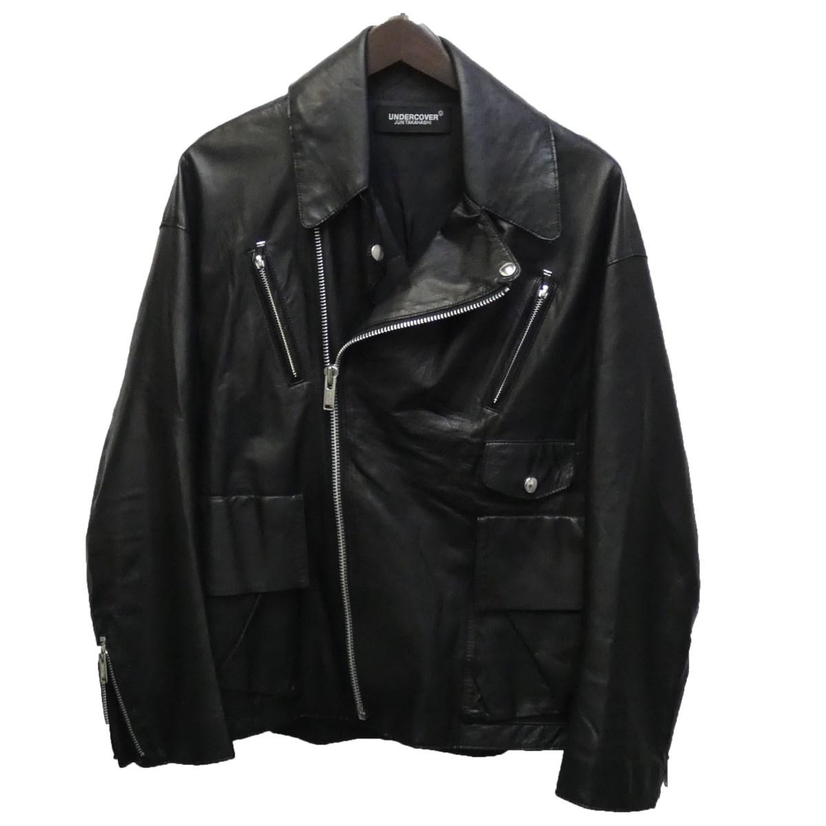 【中古】UNDERCOVER19SS カウレザーライダースジャケット ブラック サイズ:1 【6月8日見直し】