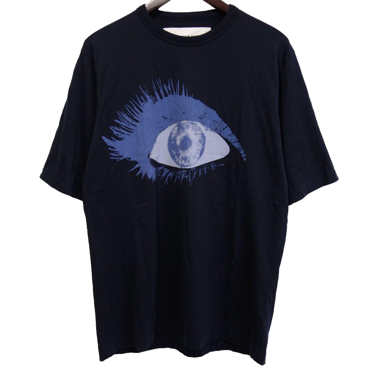 【中古】DRIES VAN NOTEN×Verner Panton 19SS プリントTシャツ ネイビー サイズ:S 【010420】(ドリスヴァンノッテン ヴェルナーパントン)