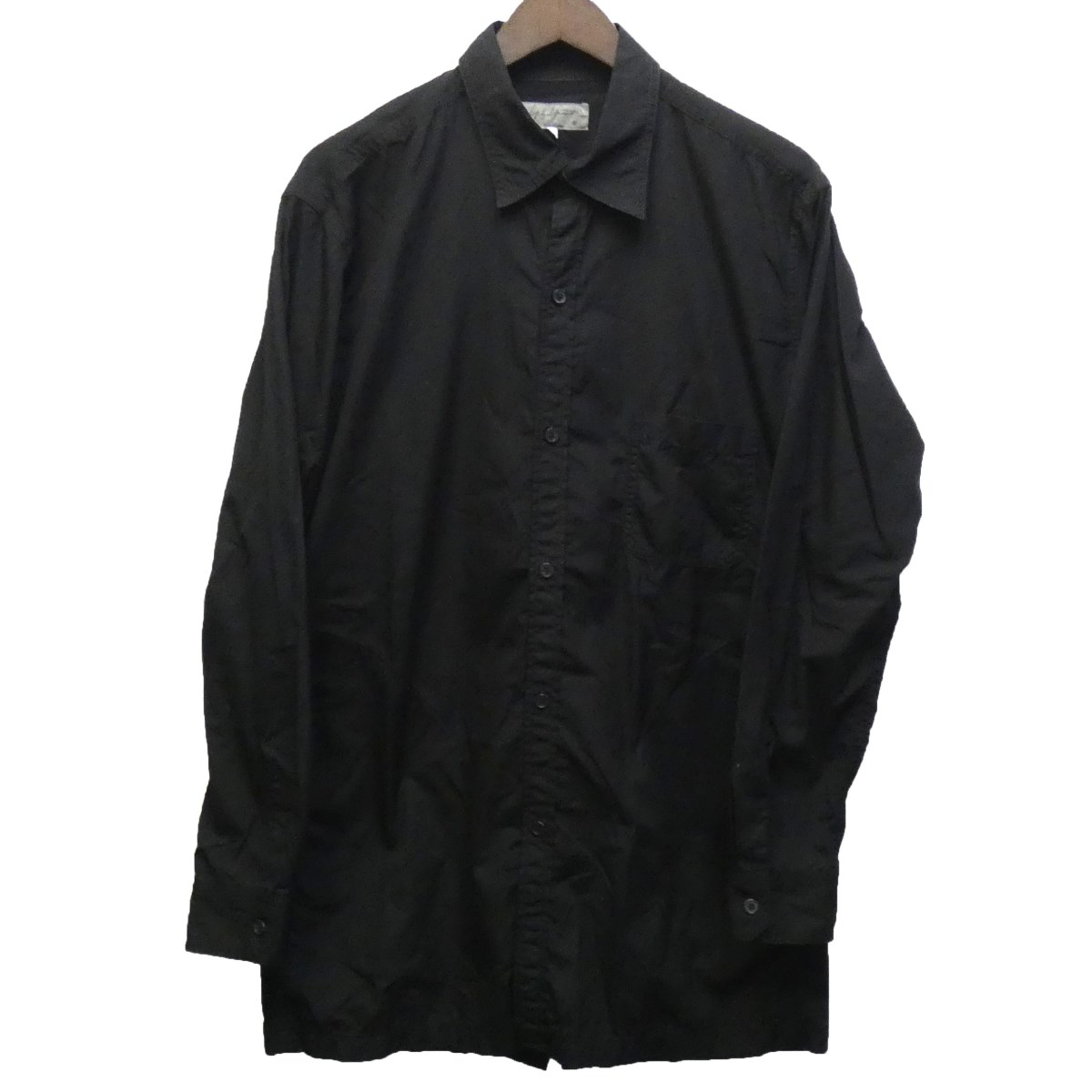 【中古】YOHJI YAMAMOTO pour homme 18SS バックオープンシャツ ブラック サイズ:3 【010420】(ヨウジヤマモトプールオム)