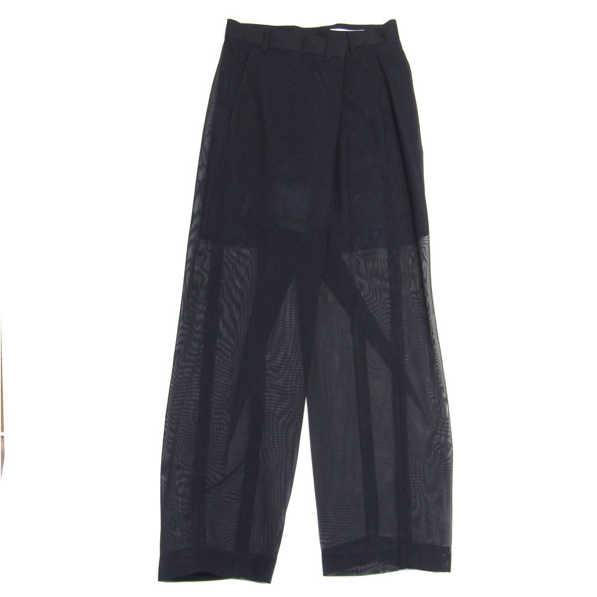 【中古】TOGA ARCHIVES Polyester Mesh Pants メッシュ切替パンツ ネイビー サイズ:34 【010420】(トーガ)