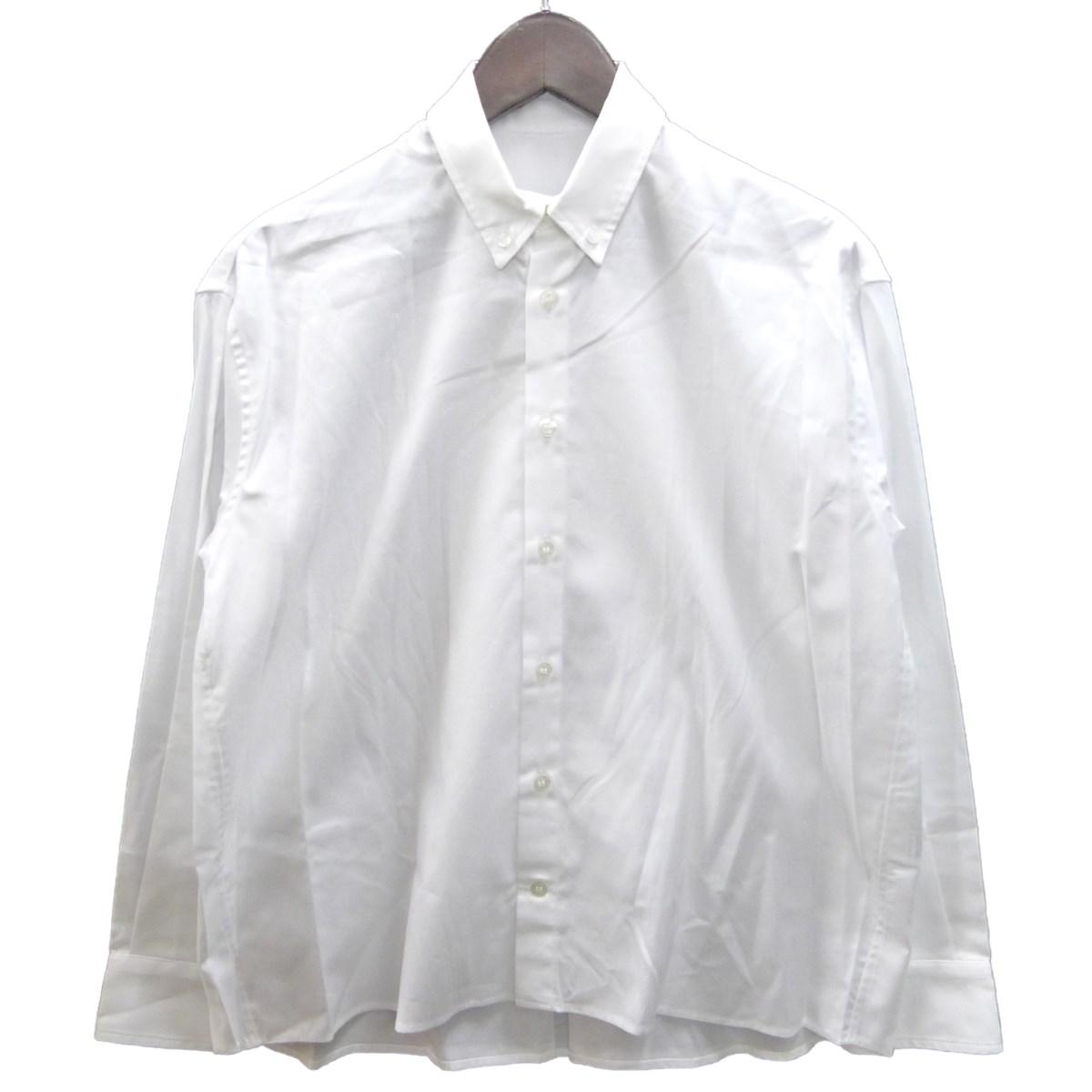 【中古】ANREALAGE ボタンダウンシャツ ホワイト サイズ:38 【020420】(アンリアレイジ)
