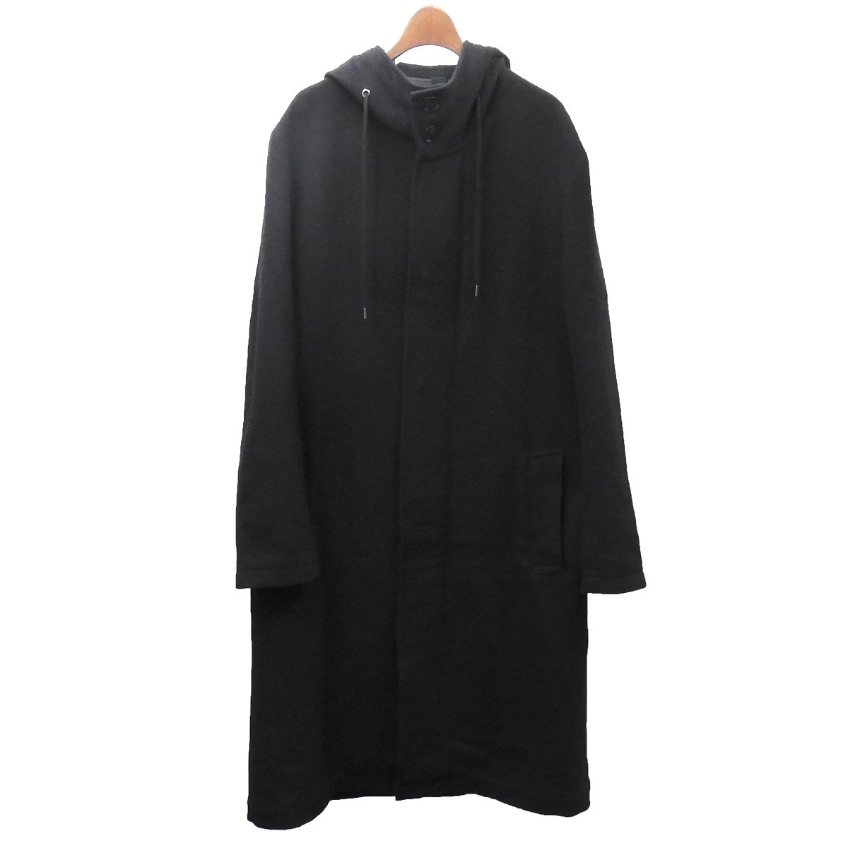 【中古】Ground Y 2018AW フーデッドコート ブラック サイズ:3 【020420】(グラウンドワイ)