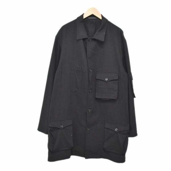【中古】YOHJI YAMAMOTO pour homme 17SS ロングシャツコート ブラック サイズ:3 【020420】(ヨウジヤマモト プールオム)