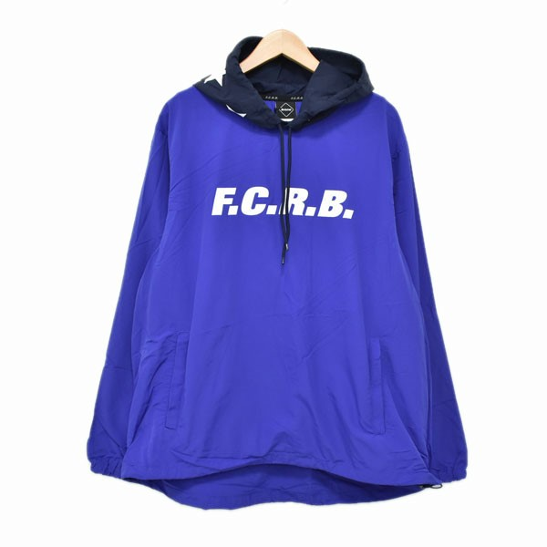 【中古】F.C.R.B. 17SS NYLON PACKABLE ANORAK ナイロンパーカー 170013 ブルー サイズ:L 【020420】(エフシーアールビー)