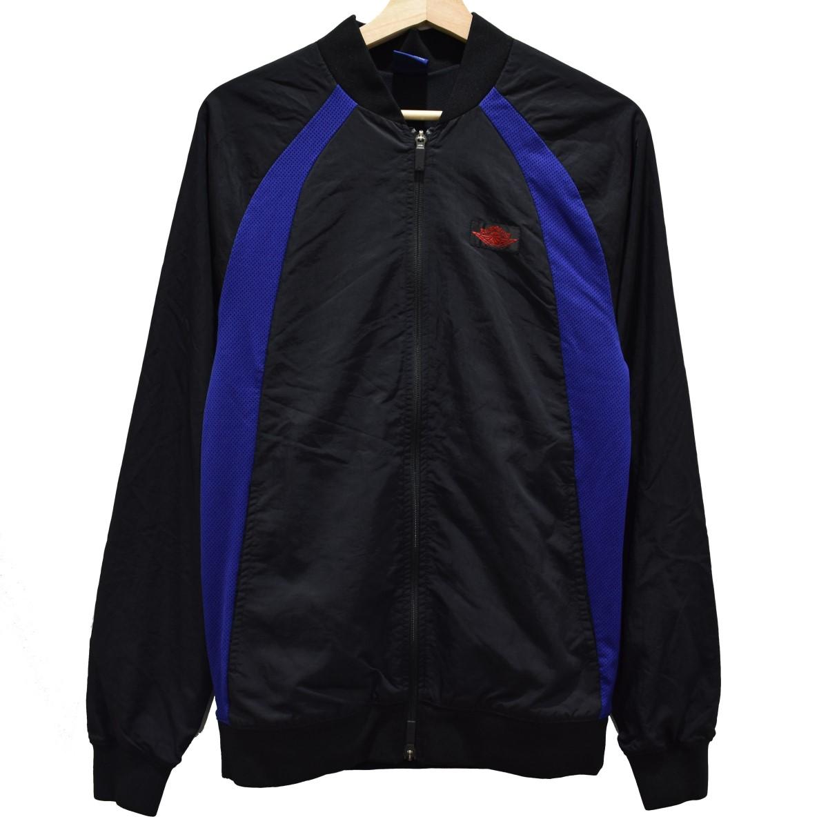 【中古】NIKE AIR JORDAN1 WINGS JACKET ジップアップブルゾン ブラック サイズ:S 【010420】(ナイキ)
