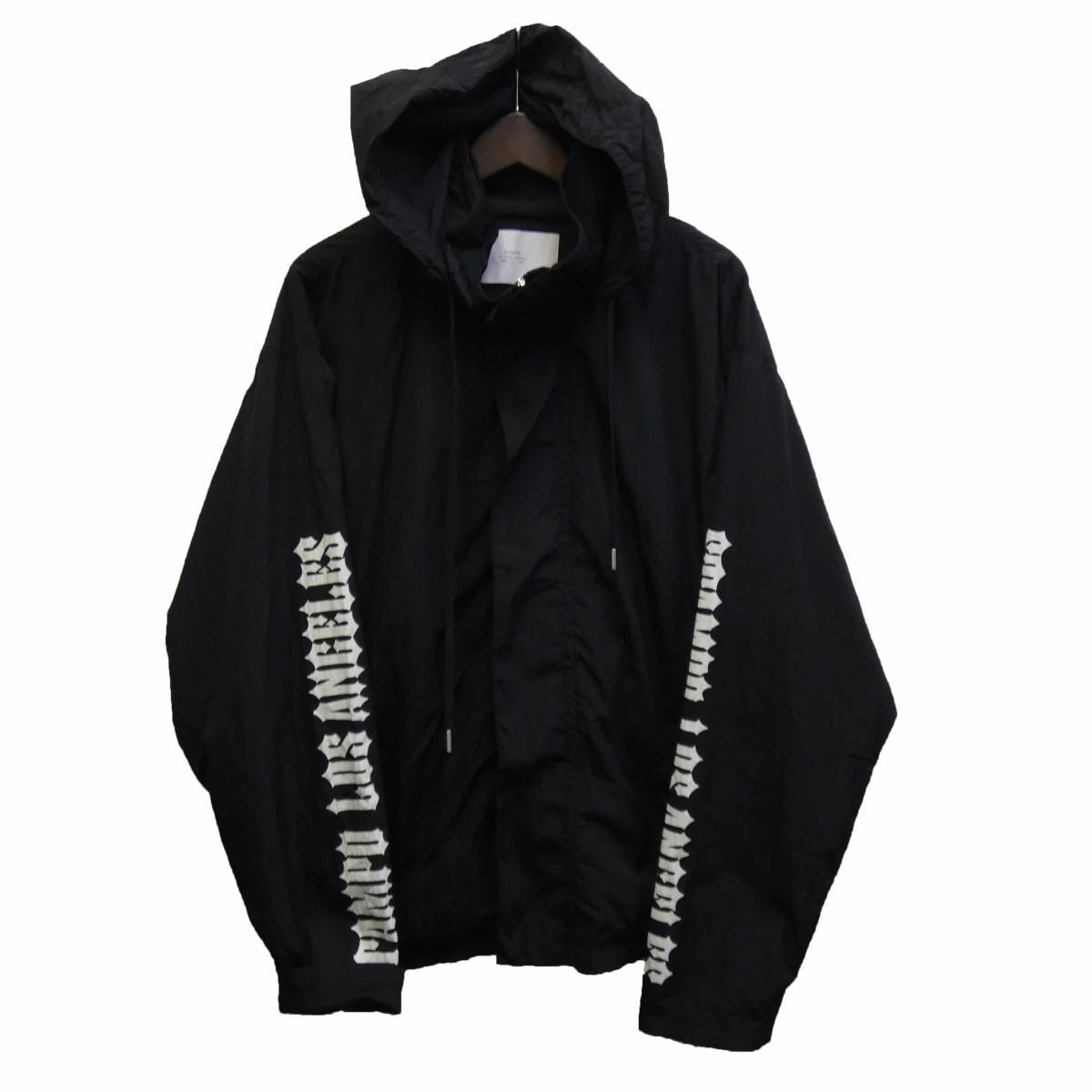 【中古】STAMPD フーデッドナイロンジャケット ブラック サイズ:L 【010420】(スタンプド)